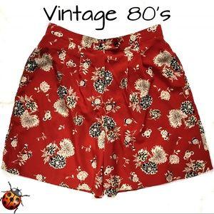 Vintage Shorts - Vintage 80's Marcia Microfiber Shorts Dressy Sz 10